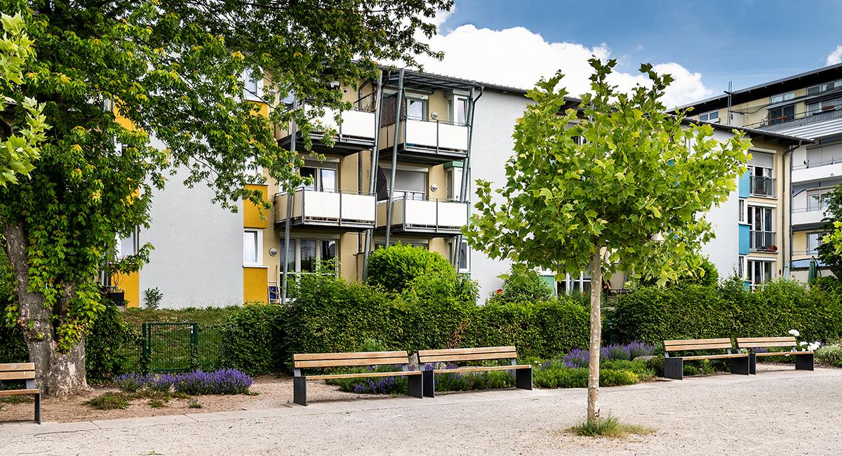 Das Gebäude des Appartementhauses Elisabethenstraße