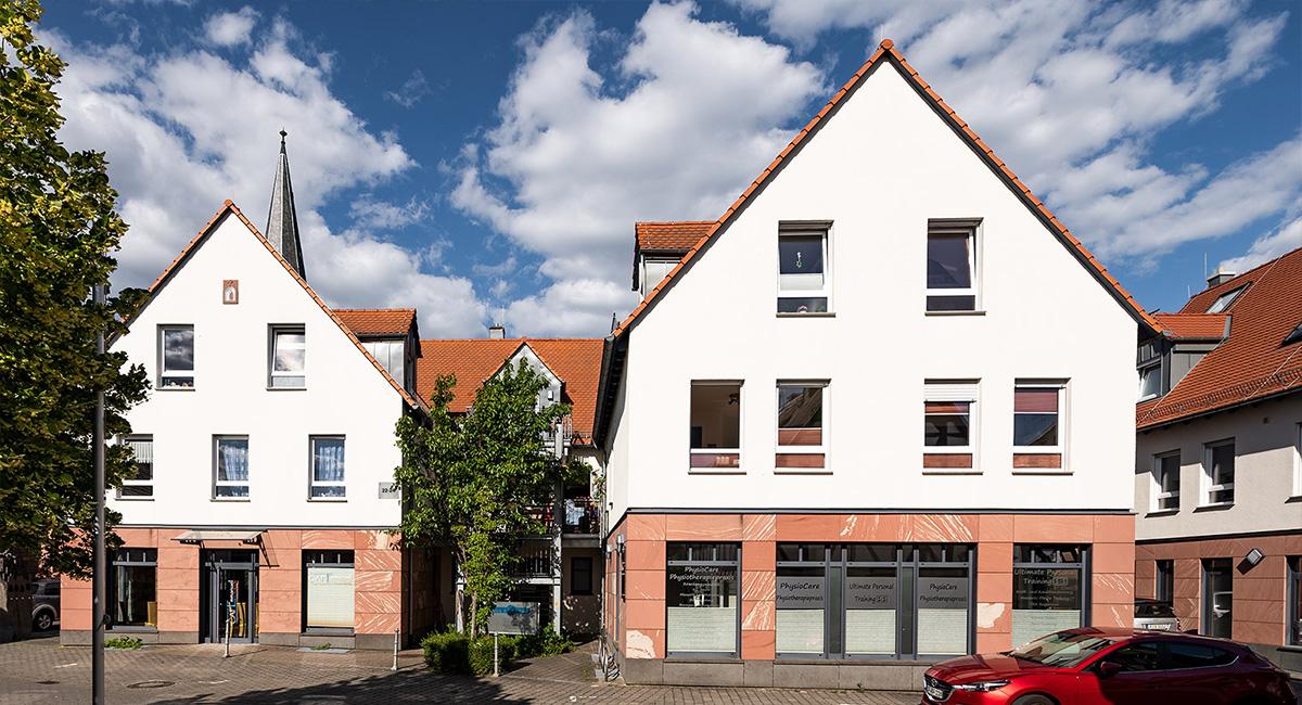 Ansicht des Wohnhauses der Wohngruppe Rodgau