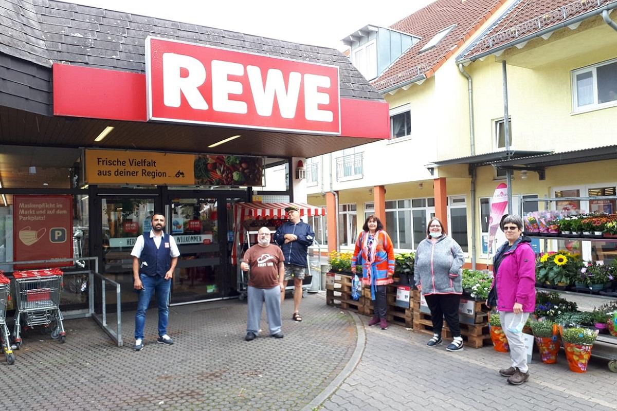 Presseartikel: Rewe-Aktion für Wohngruppe